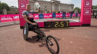 David Weir breaks wheelchair three-minute mile record