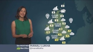 Western parts hold on to the best for sunshine tomorrow