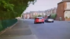Parent videos speeding drivers racing near Manchester school