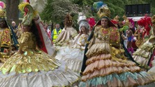 Colourful costumes were on display