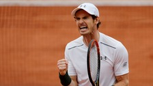 The second set proved another tight tussle before Murray pulled ahead