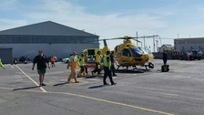 Child airlifted to hospital after jet ski collision