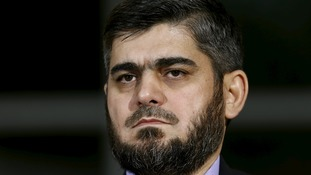 Mr Alloush said the UN-backed talks had failed to ease the plight of Syrians in rebel-held areas.