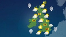 Weather: Mostly dry and warm with some showers