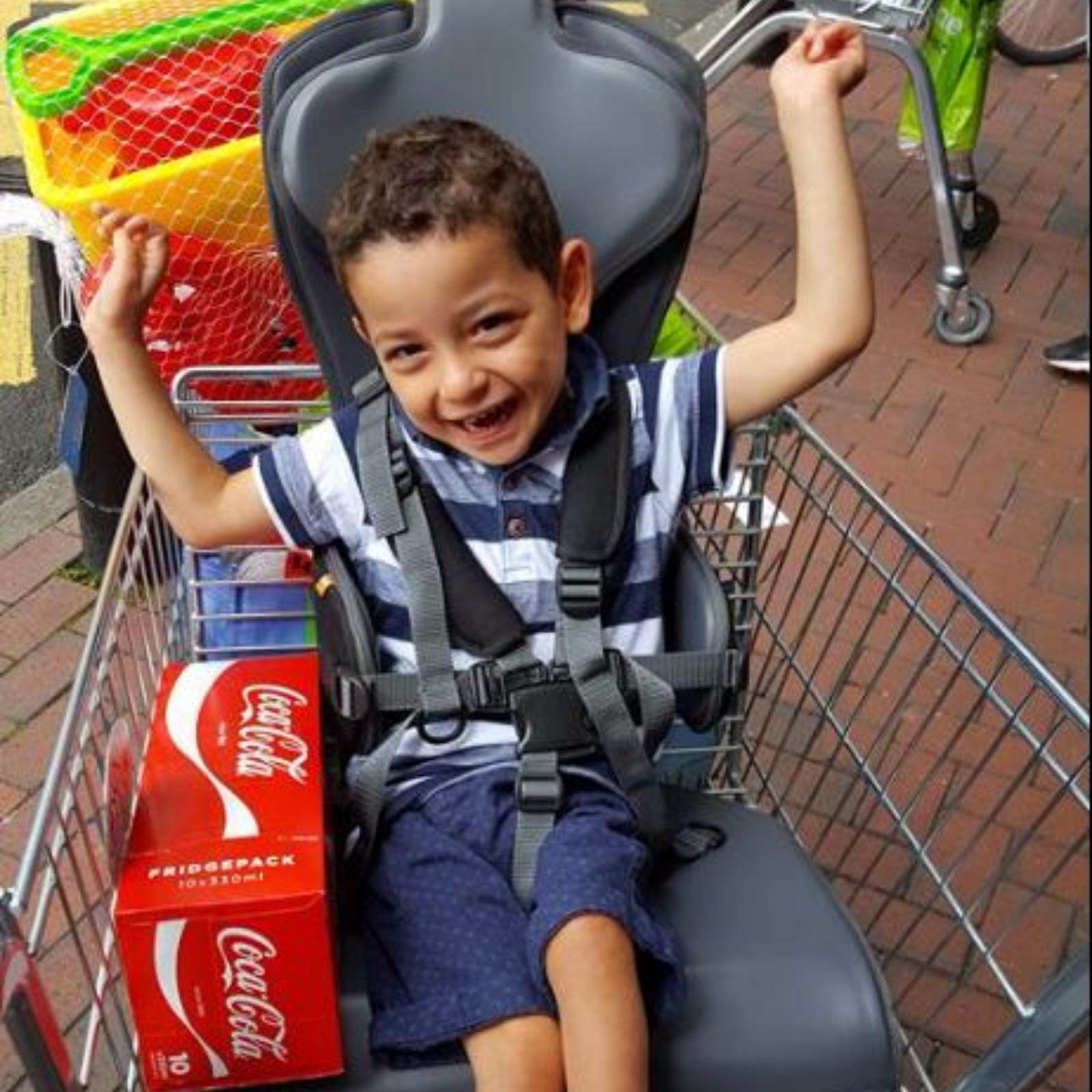 Pic Of Boy With Cerebral Palsy Going Shopping Goes Viral