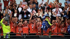 Barnsley win the League One play-off final against Millwall