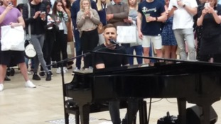 Gary Barlow surprised shoppers in Cabot Circus