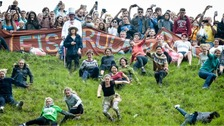 Cheese rolling returns to Coopers Hill in Gloucestershire