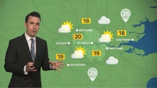 Weather: Bright and breezy with highs of 20C but the chance of rain later