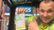 Carl Crook, 25, broke down in tears of joy and excitement after winning the jackpot