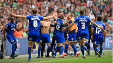 AFC Wimbledon promoted to League One after play-off win
