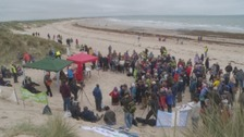 Druridge Bay picnic protest draws crowds