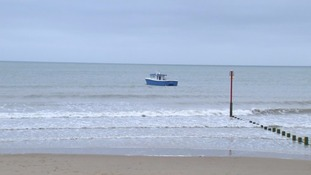 The beach at Dymchurch, Kent where the rescue operation happened