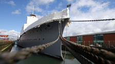 The newly restored HMS Caroline which opens on Wednesday.
