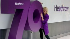 Joanna Lumley helps Heathrow celebrate 70th anniversary