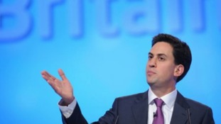 Ed Miliband at the Labour Party Conference in Manchester, yesterday