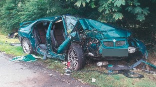 Driver jailed after horrific crash that nearly killed two  passengers