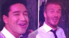 David Beckham dances at the wedding