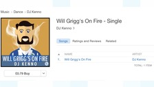 Will Grigg's on Fire is storming the charts.
