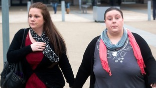 Rachel Fee (left) and her partner Nyomi Fee have been convicted of murder.