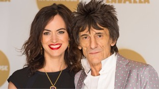 Ronnie Wood and his wife Sally.