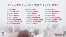 The final squad for Euro 2016