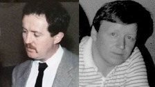 Pictured left John Devine, and right John O'Hara.