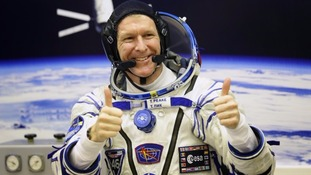 Major Peake was the first Briton to go into space