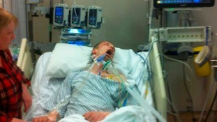 Family shares shocking image of son who was spiked with 'legal high' as warning to others