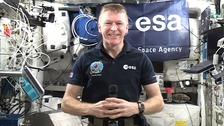 Astronaut Tim Peake speaks to ITV News from space station