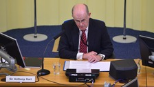 Sir Anthony Hart, Chairman of the Historical Institutional Abuse Inquiry pictured during hearings in Banbridge.