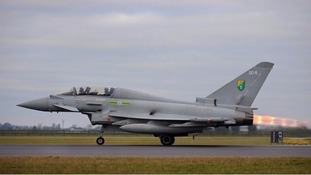 File picture of an RAF Typhoon taking off
