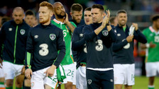 Republic of Ireland players applaud fans