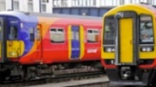 SWT employee suspended after anti EU message appears on train in Woking