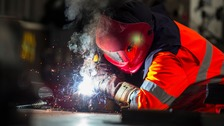 The Scunthorpe steelworks have been rebranded British Steel