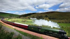 Fans urged to stay off tracks during Flying Scotsman visit
