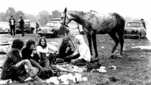 Festival goers in the early days