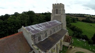 A church roof stripped of lead.