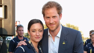 Prince Harry with Sergeant Elizabeth Marks at the Invictus Games.