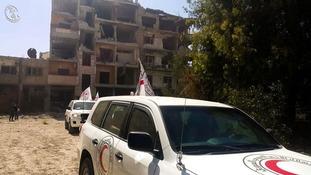 Aid reaches Daraya