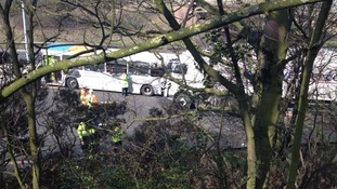 Lorry Driver Dies After Coach Crash