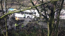 Coach and Lorry collision on M5 West Midlands 