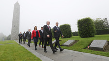 Martin McGuinness pictured with Minister President Geert Bourgeois in Messines