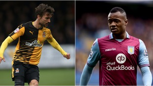 Jordan Ayew (right) and the rest of his Villa teammates are due to visit the Abbey Stadium on July 26.