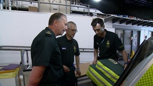 Robert Morton (left) says the East of England Ambulance Service are struggling to cope with demand.