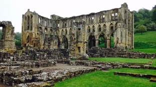 Medieval artefacts from Rievaulx Abbey ruins on display