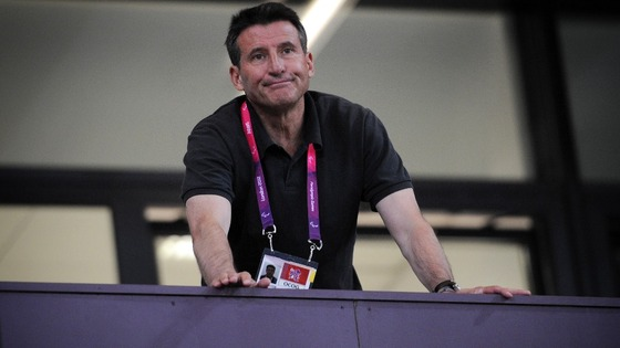 Lord Sebastian Coe watches the last night of the athletics in the Olympic Stadium, Olympic Park, during the Paralympic Games in London.