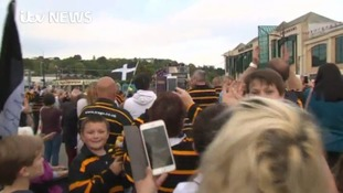 Victory parade attracts huge crowds in Truro