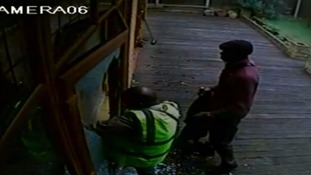 CCTV shows audacious burglary of £160,000 in jewellery and cash.
