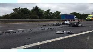 M5 crash debris